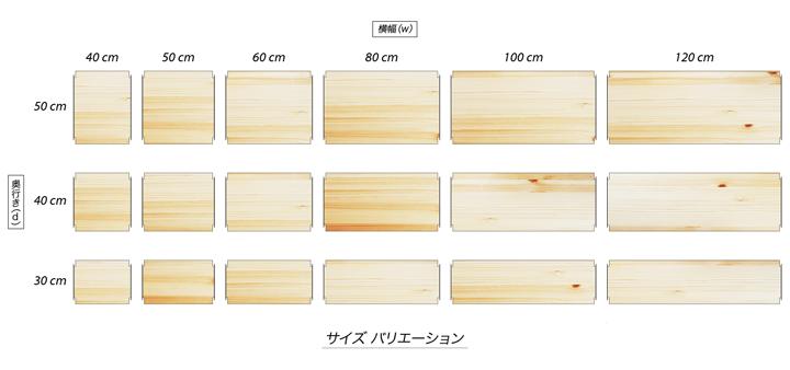 基本棚板サイズ一覧